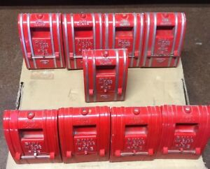 Fci Gamewell Ai270 spo Fire Alarm Pull Station Lot Of 9 Used