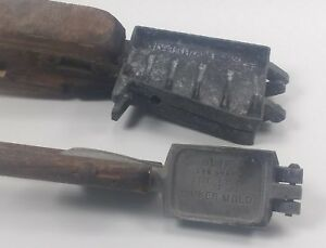 Vintage Lead Sinker Weight Molds C.Palmer #452 and Univ Taiwan 26-b