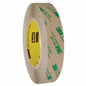Adhesive Transfer Tape Hand Rolls 1 X 60 Yds 5 Mil Clear Pack Of 6 3m 468mp