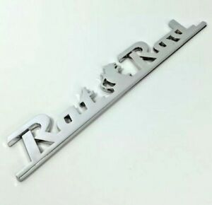 Rat Rod Metal Chrome Adhesive Script Emblem Decal For Car Truck