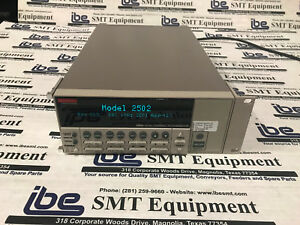 Keithley 2502 Dual Channel Picoammeter Calibrated Through April 19 W Warranty