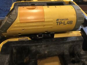 Topcon Tp l4b Construction Pipe Laser With Accessories Nice Shape