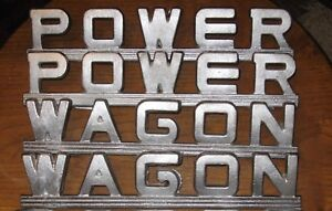 Dodge Truck Power Wagon Nameplates 1946 1957 2 Sets