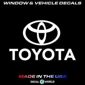 Toyota Logo Decal Car Window Toolbox And Laptop Sticker