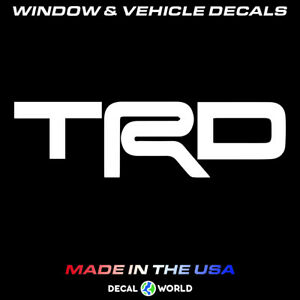 Trd Toyota Racing Decal Car Window Toolbox And Laptop Sticker