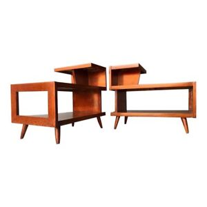 Mid Century Modern 3 Tier End Tables