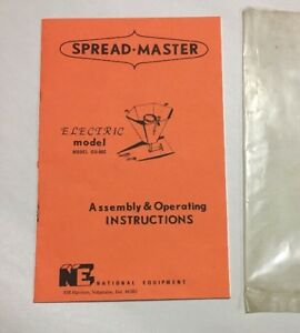 Vintage Farm Manual Ne National Equip Spread master Assembly Operating Gd 66c