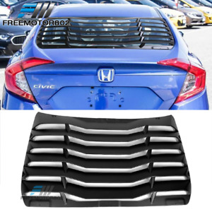 Fits 16 19 Honda Civic Sedan Ikon Rear Window Scoop Louver Sun Shade Cover Abs