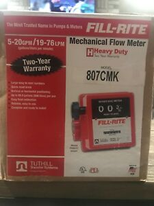 Tuthill Fill Rite Mechanical Flow Meter Heavy Duty Series 800c