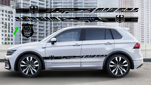 2x Vinyl Stickers Decal Car Side Door Stripes For Vw Tiguan 2005 2019