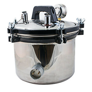 Us dental Steam Autoclave Sterilizer Sterilization 8l Lab Machine Dentist Use