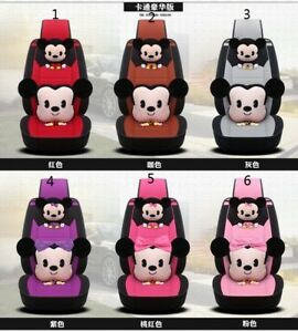 New Mickey Mouse Car Seat Covers Steering Wheel Cover Head Restraint 19pcs