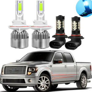 4x 8000k Ice Blue Led Cob Headlight Bulbs Fog Light For Ford F 150 2004 2014