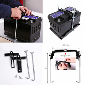 Auto Car Storage Battery Holder Adjustable Stabilizer Tray Down Clamp Durable