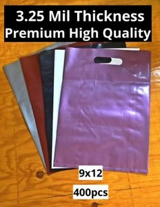 Premium Plastic Retail Merchandise Store Shopping Bags Gift Multiple Sizes Lot