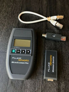 Fluke Networks Microscanner Lan Network Cable Tester 30 Day Warranty