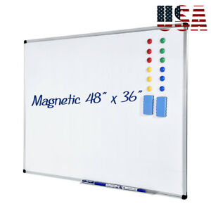 48 x36 Magnetic Writing Whiteboard Dry Erase Board W eraser Office Single Side