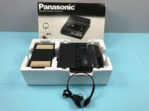 Panasonic Standard Cassette Tape Transcriber Rr 830 With Foot Pedal In Box