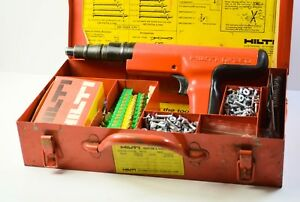Hilti Dx350 Power Actuated Nail Gun With Case Accessories Extras Dx 350