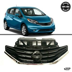 Fits For Nissan Versa 2014 2016 Front Grill Sr Style Gloss Black Chrome Grille