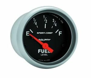 Autometer Sport Comp Electric Universal Gm Chevy Fuel Level Gauge 2 1 16 52mm