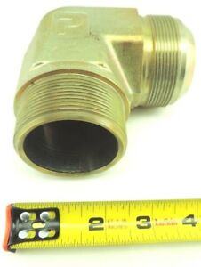 Parker Male Elbow Tube To Pipe 2 Flare X 2 Npt Steel