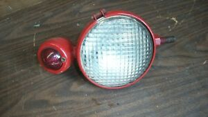 Ford 8n 9n Tail Light Red Taurus 6v Rear Light W Bracket Vintage Tractor Lamp
