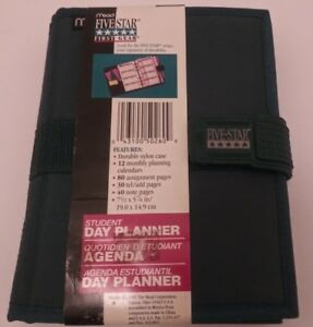 Mead Five Star First Gear Blue Student Planner Nwt Vintage