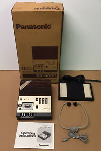 Panasonic Rr 900d Microcassette Transcriber W Footswitch Headset works