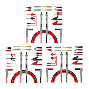3x 4mm Banana Plug Electronic Test Lead Automotive Multimeter Test Probe Kit