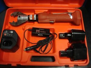 Huskie Eco ez Robo Crimp 6 Ton Crimper Set Two Bp 80 Batteries Ch 90 Charger