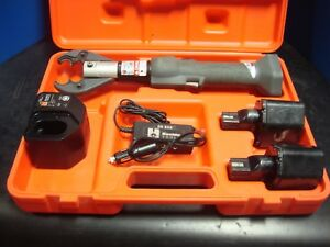 Huskie Eco ez Robo Crimp 6 Ton Crimper Kit Two Bp 80 Batteries Ch 90 Charger