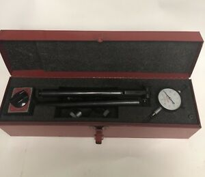 Starrett Heavy Duty Magnetic Base With Dial Indicator And Steel Case
