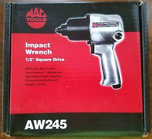 Mac Tools Aw245 1 2 Air Pneumatic Impact Wrench