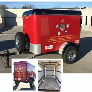 Custom Made Gladiator Enclosed Cargo Trailer 2003 4 5 X 6 Motorcycle Trailer