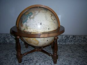 Vintage Replogle 12 Inch World Classic Series Globe On Stand Very Nice Condition