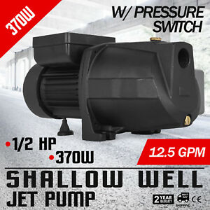 1 2 Hp Shallow Well Jet Pump W Pressure Switch 110v Ho Mes 3420rpm Supply Water