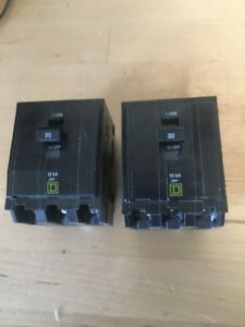 Square D 30 Amp 3 Pole Qob Breaker