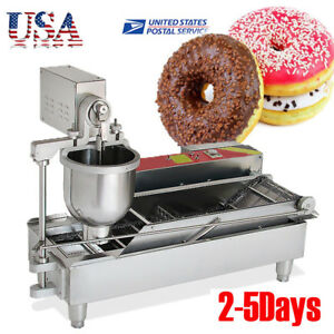 Commercial Safety Auto Donut Maker Making Machine Free Stainless Steel 3 Mold Us