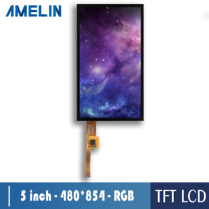 5 Inch Lcd Panel 480 854 With Ctp Ips Tft Lcd Module Touch Screen Displays