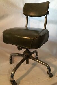 Green Office Swivel Desk Chair Industrial Vintage Mid Century Tanker Steelcase
