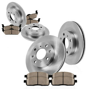 Front Rear Brake Rotors Ceramic Pads For 1993 1994 1995 1996 1997 Honda Accord