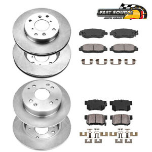Front Rear Rotors Ceramic Pads For 1998 1999 2000 2001 2002 Honda Accord