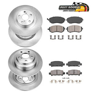 Front And Rear Brake Disc Rotors Ceramic Pads For Baja Legacy Outback