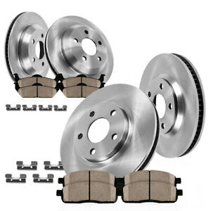 Front rear Rotors Ceramic Pads For Chevy S10 Blazer Pickup Envoy Sonoma Jimmy