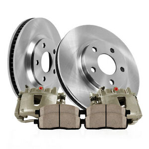 Front Brake Calipers And Rotors Pads For 1999 2000 2001 2002 Ford Mustang Base