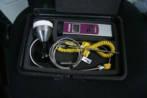 Atkins Thermometer F C Versatuff 386 K Series With 3 Probes And Hard Case
