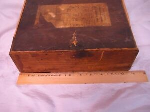 Antique Dovetailed Wood Box Circulating Library Glovers Inc Paterson Nj 1933