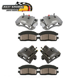 Front And Rear Calipers Ceramic Pads For 2006 2007 2008 Dodge Ram 1500 2wd 4wd