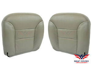 1995 To 1999 Tahoe Suburban Driver Passenger Bottom Leather Seat Covers Gray